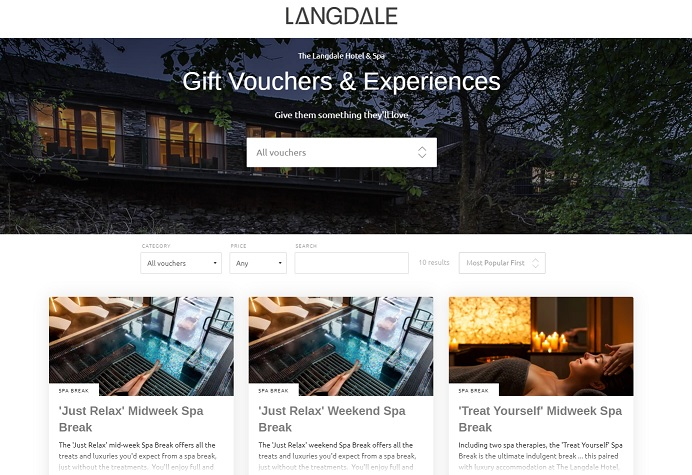lake district hotel gift vouchers